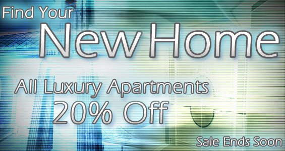 Luxury Apartments Twenty Percent Off
